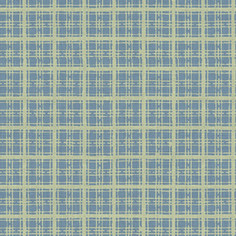 Asian plaid - blue/green fabric by materialsgirl on Spoonflower - custom fabric