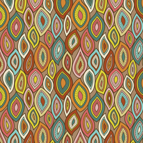 Enchanted Gypsy Leaves fabric by groovity on Spoonflower - custom fabric