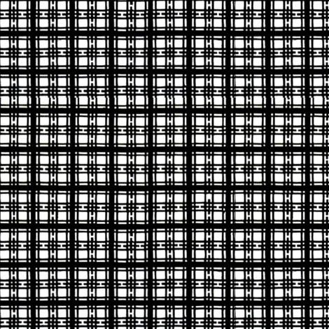 Asian plaid - black and white fabric by materialsgirl on Spoonflower - custom fabric