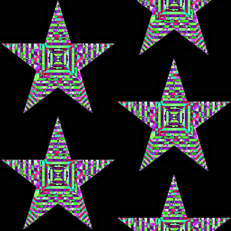 HOLIDAY ORNAMENT STARS 4 fabric by dovetail_designs on Spoonflower - custom fabric