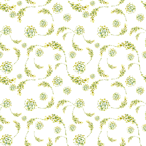 Vine Swirls fabric by susan_magdangal on Spoonflower - custom fabric