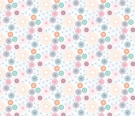Snowflowers fabric by dna2011 on Spoonflower - custom fabric