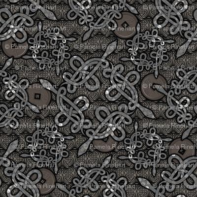 Snake Knots in Silver