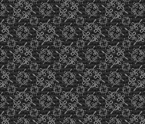 Snake Knots in Silver fabric by glimmericks on Spoonflower - custom fabric