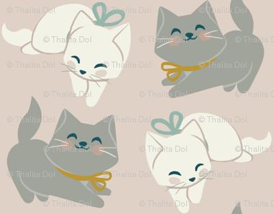 1 kitten, 2 kittens