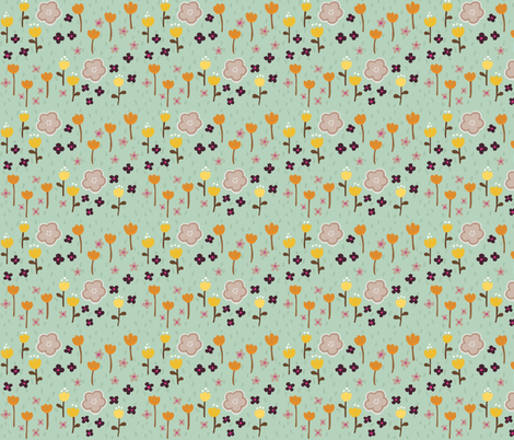 Good Morning Garden fabric by thalita_dol on Spoonflower - custom fabric