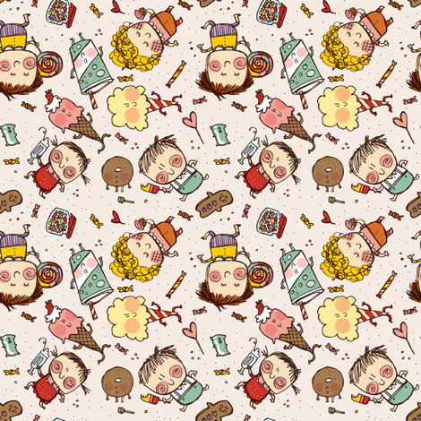 sweets fabric by laura_the_drawer on Spoonflower - custom fabric