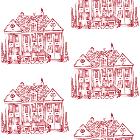 mansion fabric by laura_the_drawer on Spoonflower - custom fabric