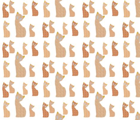 Gatinho fabric by pink_koala_design on Spoonflower - custom fabric
