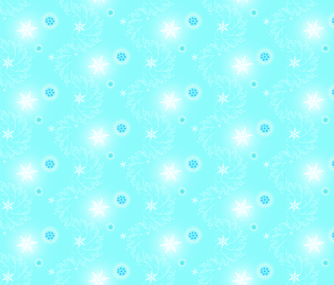 Snowflake Magic fabric by leahvanlutz on Spoonflower - custom fabric