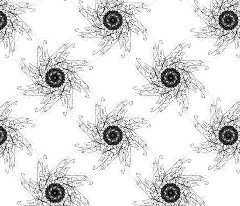 jellyfish spin fabric by fefifo on Spoonflower - custom fabric