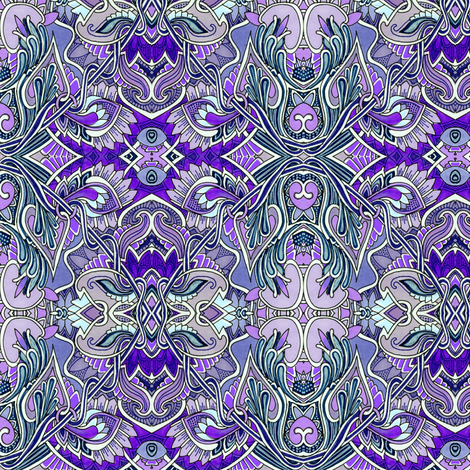 Big Purple Paisley Flowers in Bloom fabric by edsel2084 on Spoonflower - custom fabric