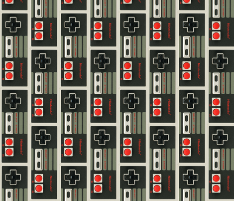 NES Controller Brick Pattern fabric by lovelylatte on Spoonflower - custom fabric