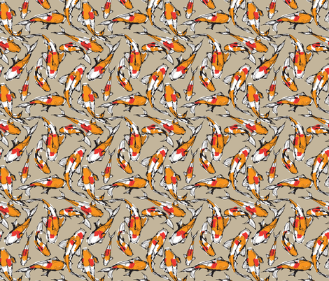 koi fish fabric by cocoshop on Spoonflower - custom fabric