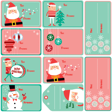 Xmas Gift Tags fabric by edward_elementary on Spoonflower - custom fabric