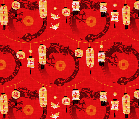 Year of the snake fabric by jwitting on Spoonflower - custom fabric