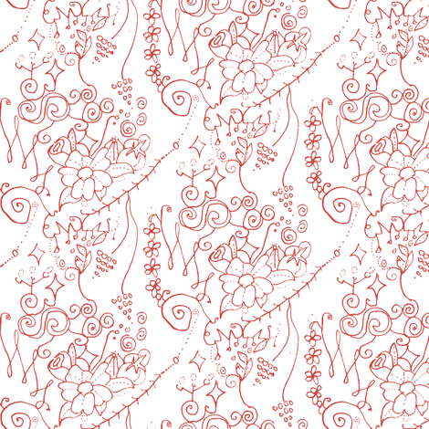 Tiny Floral Swirls fabric by boris_thumbkin on Spoonflower - custom fabric