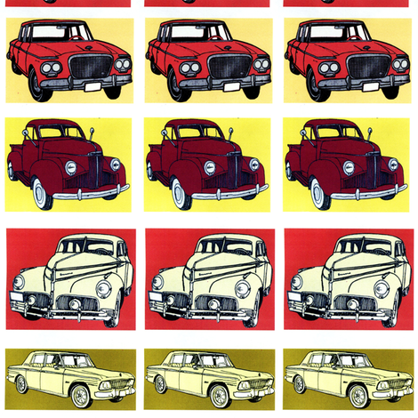 Studebaker Flock Blocks fabric by edsel2084 on Spoonflower - custom fabric