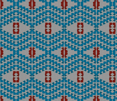 Gatinho_azul_rojo_textured fabric by pink_koala_design on Spoonflower - custom fabric