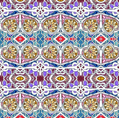 Persian Knot Garden fabric by edsel2084 on Spoonflower - custom fabric