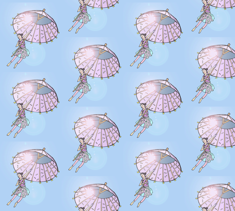 umbrellaflare2 fabric by galesteo on Spoonflower - custom fabric