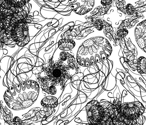 Jellyfish  fabric by fefifo on Spoonflower - custom fabric