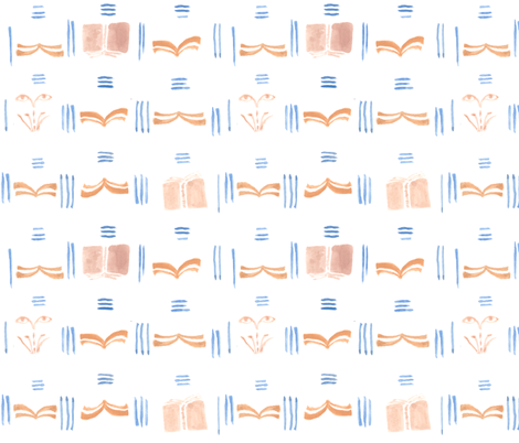 abstract books fabric by wilderness on Spoonflower - custom fabric