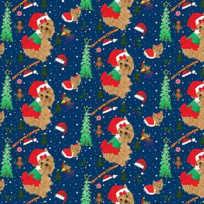 Yorkie Christmas Fabric