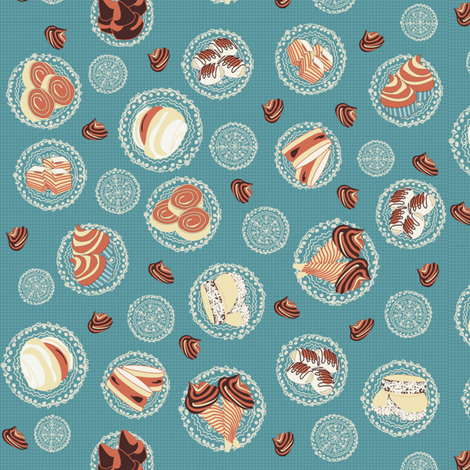 Dulce de leche fabric by kirpa on Spoonflower - custom fabric