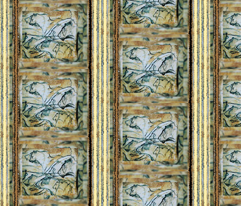 Lions n Stripes fabric by karendel on Spoonflower - custom fabric