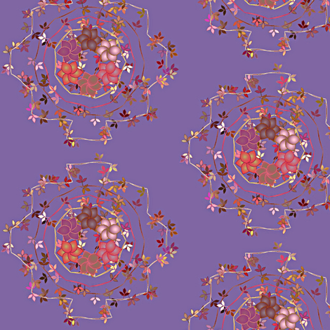 Daisy_Chain_Floral_on_Purple fabric by patsijean on Spoonflower - custom fabric