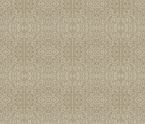 Old Scroll-grey goose - mirror pattern fabric by materialsgirl on Spoonflower - custom fabric