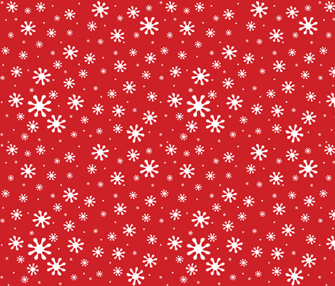 snow happy fabric by lilbirdfly on Spoonflower - custom fabric