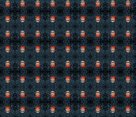 Wreck-It Ralph Blue fabric by makersway on Spoonflower - custom fabric