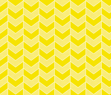 Herringbone Yellow fabric by curious_nook on Spoonflower - custom fabric