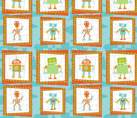 robots fabric by dlginc on Spoonflower - custom fabric