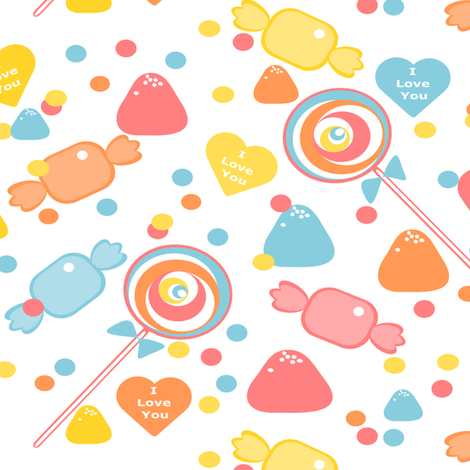 Sweets & Sweethearts fabric by simplysweet on Spoonflower - custom fabric