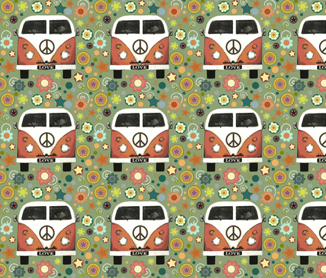 peace camper (larger) fabric by scrummy on Spoonflower - custom fabric