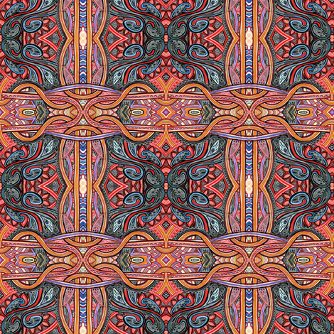 Along the Beltway (terracotta large scale plaid of sorts) fabric by edsel2084 on Spoonflower - custom fabric