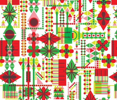 Seasonal Geometry fabric by mandakay on Spoonflower - custom fabric