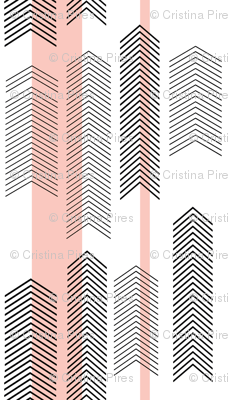 pink chevron stripe