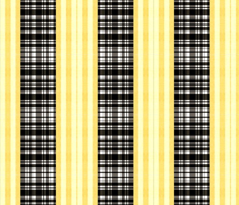 blk check /gold stripe fabric by nascustomwallcoverings on Spoonflower - custom fabric
