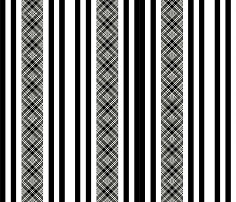 blk check/stripe fabric by nascustomwallcoverings on Spoonflower - custom fabric