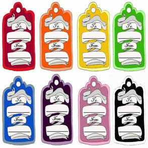 Multicolored Gift Tags