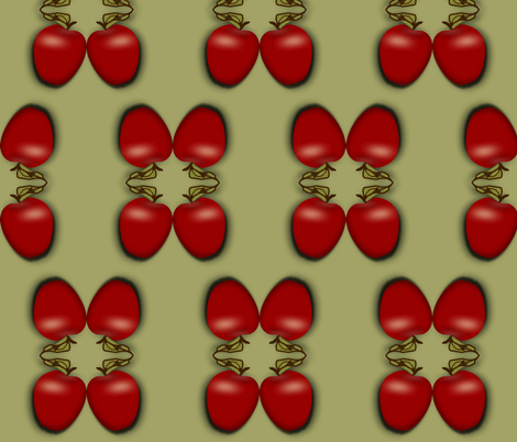 apples fabric by boneyfied on Spoonflower - custom fabric