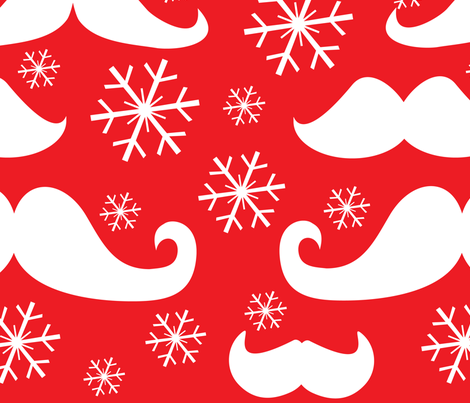 Mustaches for the Holidays fabric by lesrubadesigns on Spoonflower - custom fabric