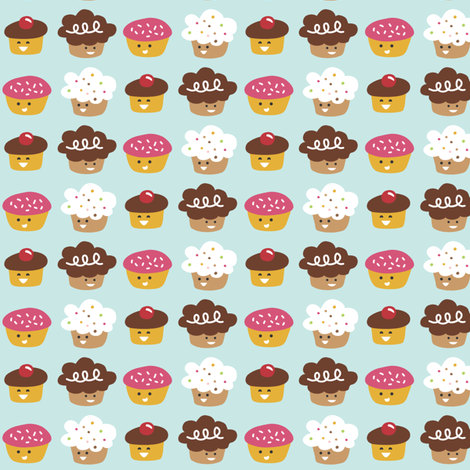 Cupcake Trim fabric by tradewind_creative on Spoonflower - custom fabric