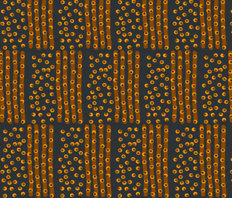 Dots and Lines on Black fabric by anniedeb on Spoonflower - custom fabric