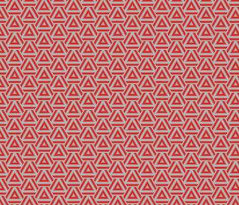 Triangles red and grey fabric by mihaela_zaharia on Spoonflower - custom fabric