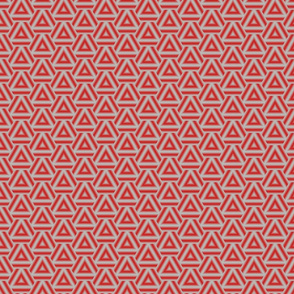 Triangles red and grey